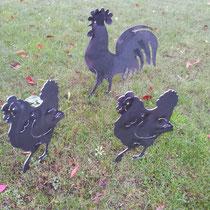 Hühner in Stahl