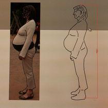 Aus Bild wird Körper in Stahl man braucht nur zwei Sachen. Ein schönes Bild, und wie groß man ist.