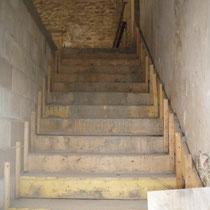 maçonnerie d'un escalier