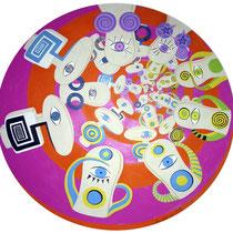 """""""Der innere Kreis"""" - Acryl auf MDF 96cm durchmesser 2006"""