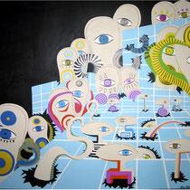 """""""Schattenwelt"""" -  Acryl auf MDF 107x110cm 2006"""