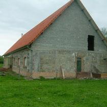 Le pignon  de la maison d'hôtes le blockhaus de domleger