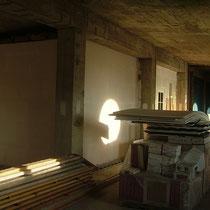 Les matériaux stockés à l'intérieur du blockhaus de domleger