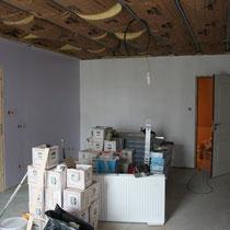 La laine de verre du plafond de votre chambre au blockhaus de domleger