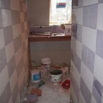 La futur salle de bain de la chambre du blockhaus de domleger N°2