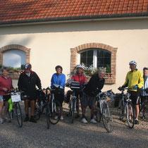 Cyclistes à la chambre d'hôtes le Blockhaus de Domleger