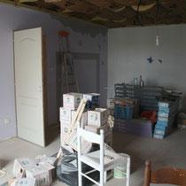 Stockage de matériaux dans la chambre Parme du Blockhaus de domleger