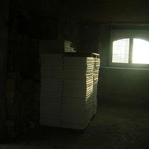 L'intérieur avant les travaux  du blockhaus de domleger