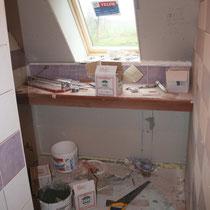 La futur salle de bain de la chambre du blockhaus de domleger