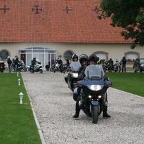 Départ de balade moto au blockhaus de domleger