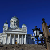 Helsingin Tuomiokirkko (Lutheran Cathedral - Dom von Helsinki) with Senaatitori (Senat Square - Senatsplatz)