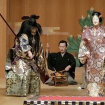 11月17日『項羽』後シテ 宝生和英、ツレ 辰巳大二郎