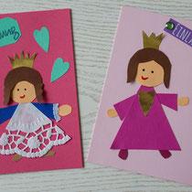 Einladungskarte Prinzessin für den Kindergeburtstag selbst gemacht