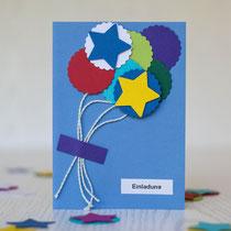 selbst gemachte Einladungskarten für den Kindergeburtstag