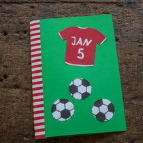 Fussball Einladung für den Kindergeburtstag selbst gemacht