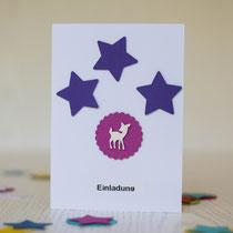 selbst gemachte Einladungskarte für den Kindergeburtstag