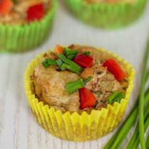 Kindergeburtstag Rezepte - Gemüse-Schinken-Muffins