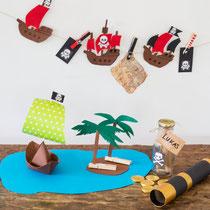 Piratendeko - selbst gemachte Deko für Piratenparty und Kindergeburtstag