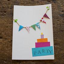 Bunte Einladungskarten für den Kindergeburtstag selbst gemacht