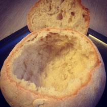 Brotlaib - Vorher, ohne Suppe.