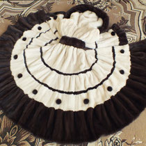 Шубка-платье из норки цвета топленого молока и горького шоколада.