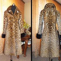 Это даже не шуба. Это элегантное пальто из НАСТОЯЩЕЙ крупной  ДИКОЙ кошки. Шкуры огромные.. во всю длину шубы....