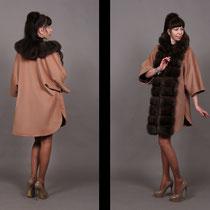 пальто из итальянского кашемира с баргузинским соболем