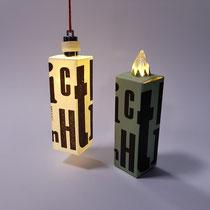 Schachteln: Ein Lichtlein brennt