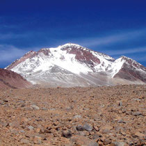 Blick vom Basislager auf den Llullallaco, Llullallaco, Socompa, Thron der Inka
