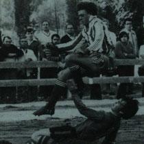 Partido de la temporada 1983-84 jugado en San Martín, debido al estado en que quedó Ellakuri tras las terribles inundaciones de agosto de 1983.