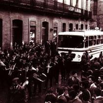 Recibimiento al Villosa campeón que logró el primer ascenso a Tercera en 1954.