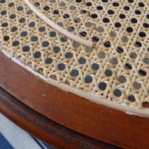 cannage mécanique: sertissage de la moelle de bordure