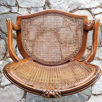 fauteuil Louis XV cannage assise et dossier