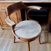 fauteuil de bureau Thonet  estampillé - 1888-1922, cannage traditionnel