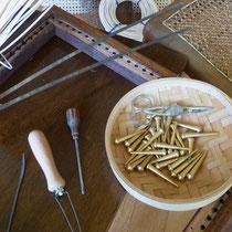 les outils de l'artisan canneur