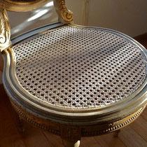 cannage français à 6 brins sur chaise Louis XVI
