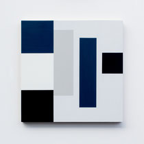 Blue # 06,  Olieverf op berken multiplex 44x44x3cm (2018)