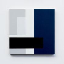 Blue # 03, Olieverf op berken multiplex 44x44x3cm (2018)
