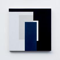 Blue # 04,  Olieverf op berken multiplex 44x44x3cm (2018)