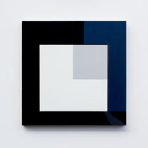 Blue # 05,  Olieverf op berken multiplex 44x44x3cm (2018)