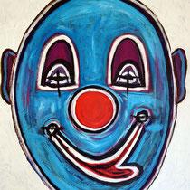 Blauer Clown II 2015 Acryl auf Leinwand 70 x 90