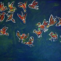 Vogelflug 2015 Acryl auf Leinwand 90 x 70