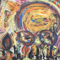 Mondgang 2018 Acryl auf Leinwand 100 x 60