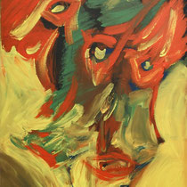 Wut 2005 Acryl auf Leinwand 70x90
