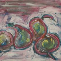 Winterbirnen 2008 Acryl auf Leinwand 40 X 30