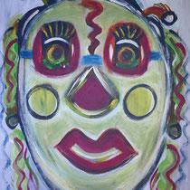 Maskerade 2016 Acryl auf Leinwand  70 x 90