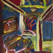 Zu Tisch 2017 Acryl auf Sperrholz 50 x 95
