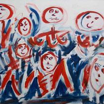 Die Band 2004 Acryl auf Leinwand 120x100
