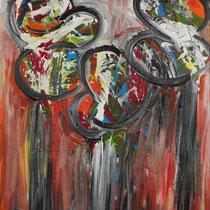 Mein Klee  2017 Acryl auf Leinwand  60 X 90