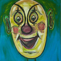 Blauer Clown 2012 Acryl auf Leinwand 60x70